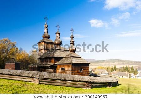 eski · kırsal · ev · geleneksel · çim · duvar - stok fotoğraf © phbcz