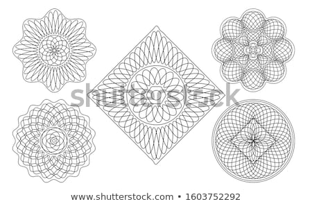 Stock photo: guilloche rosette