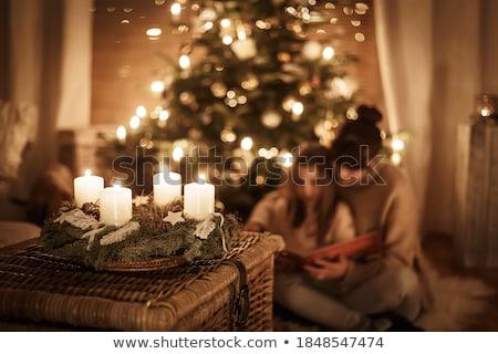 Velas decoração natal ano novo férias Foto stock © sabelskaya
