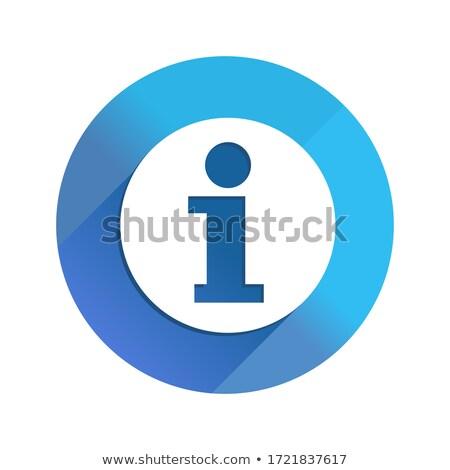 Információ jel ikon művészet felirat háló asztal Stock fotó © kiddaikiddee