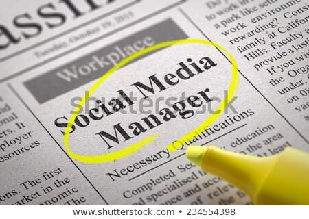 Social Media Manager Jobs in Newspaper. Stock photo © tashatuvango