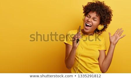 歌う 歌 女の子 ツリー リスニング 殺す ストックフォト © Soleil