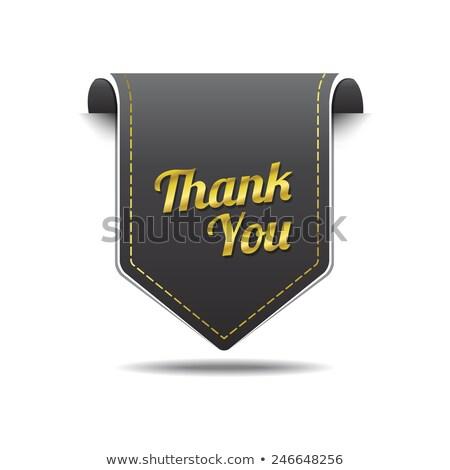 спасибо · золото · дизайна · каллиграфия - Сток-фото © rizwanali3d