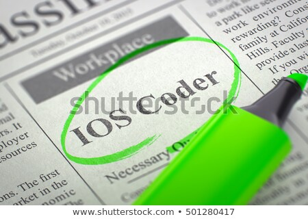 IOS Coder Jobs in Newspaper. Stock photo © tashatuvango