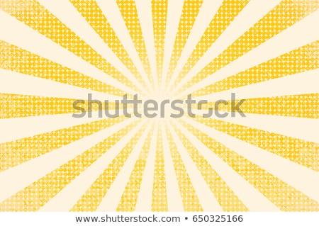 Vintage circus zonnestralen papier frame teken Stockfoto © tintin75