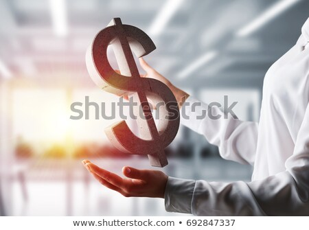 Photo stock: Pierre · signe · du · dollar · eps8 · organisé · couches · mondial
