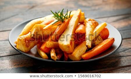 cenouras · bandeja · comida · bebê · vidro - foto stock © keko64