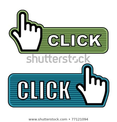 Botón web azul color mano cursor Foto stock © tashatuvango