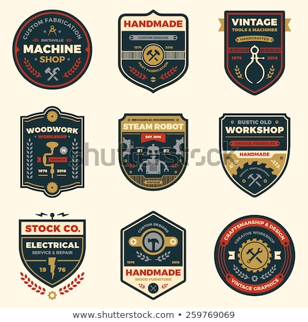 Photo stock: Vintage · atelier · badges · rétro · étiquette