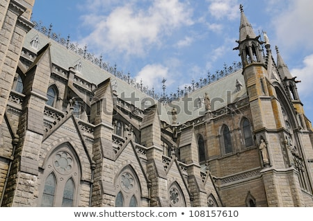 cathédrale · Irlande · nuages · art · église - photo stock © Perszing1982