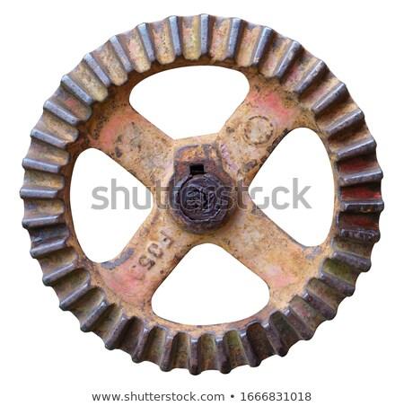 ヴィンテージ トラクター ホイール 歯 ゴム タイヤ ストックフォト © rghenry