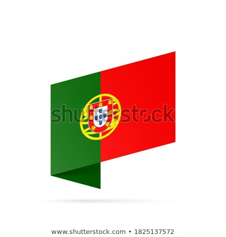 Map on flag button of Portuguese Republic Stock photo © Istanbul2009