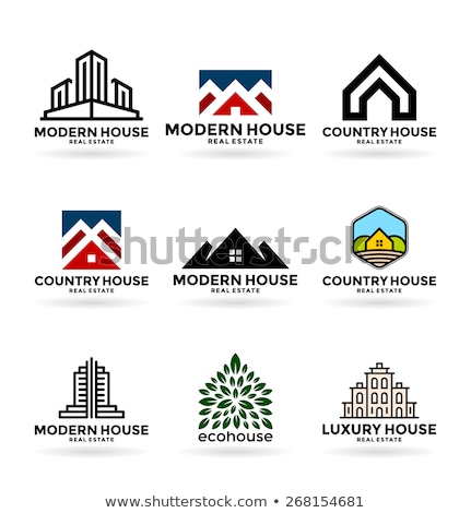 Real Estate Flat Circle Icons Set Stock photo © Anna_leni