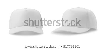 beysbol · şapka · mavi · gri · takım · top - stok fotoğraf © ozaiachin