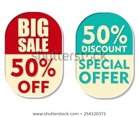 50 percent off discount, sale and special offer, two elliptical  Stock photo © marinini