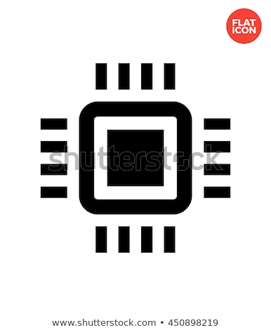 Mini cpu simples ícone branco poder Foto stock © tkacchuk