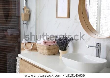 ванную фото стекла комнату мебель архитектура Сток-фото © maknt