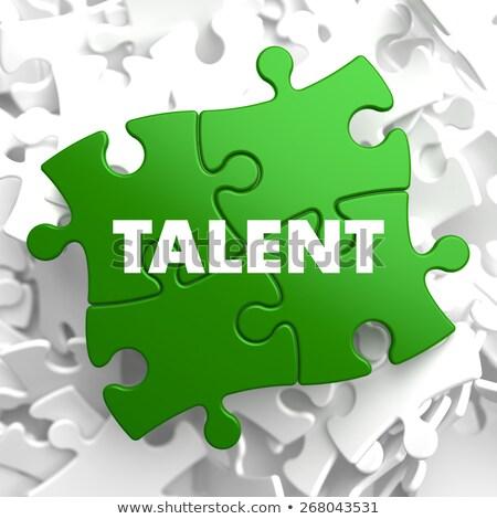 Talent groene puzzel witte kunst onderwijs Stockfoto © tashatuvango