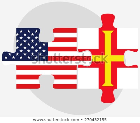 usa and guernsey flags in puzzle stock photo © istanbul2009
