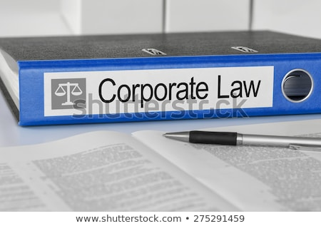Blue folder with the label Corporate Law Stock photo © Zerbor
