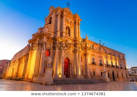 katolikus · katedrális · Szicília · Olaszország · templom · város - stock fotó © ankarb