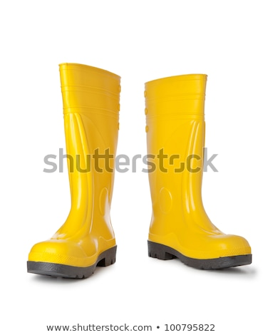 Yellow rubber boots isolated on white Stock photo © ozaiachin