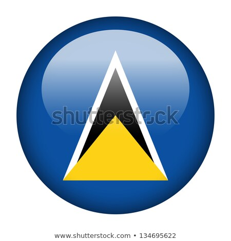 Round sticker with flag of saint lucia Stock photo © MikhailMishchenko