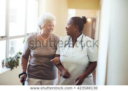 arts · gezonde · ouderen · man · glimlachend · medische - stockfoto © barabasa