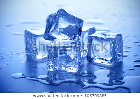 Blauw Ice Cube abstract drinken Stockfoto © jul-and