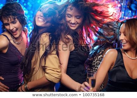 Photo stock: Mode · femme · discothèque · sombre · couleur · photos