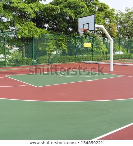 Zewnątrz publicznych boisko do koszykówki koszykówki farby dziedzinie Zdjęcia stock © art9858