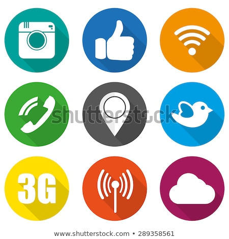 social internet blue vector button icon design set stock photo © rizwanali3d