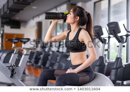 ボディービルダー 飲料 タンパク質 ぶれ 水 ストックフォト © Jasminko