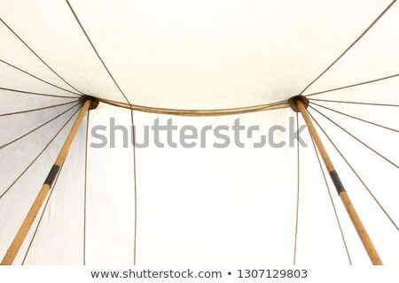 two historical medieval camp tent Stock photo © flariv