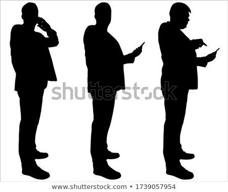 анонимный бизнесмен смартфон серый рубашку профессиональных Сток-фото © wavebreak_media