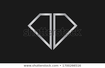 Gems D letter. Shiny diamond font. Stock photo © logoff