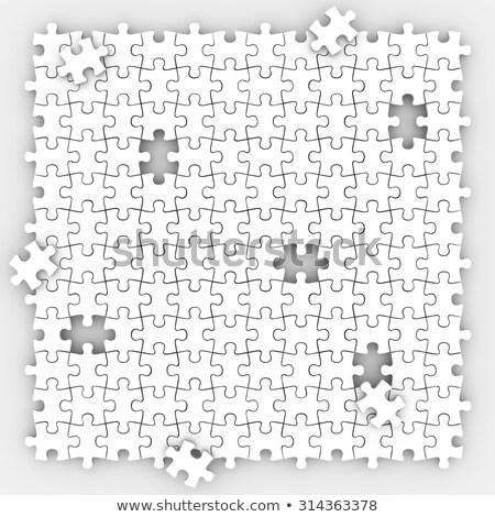 Puzzle Pieces Hole Background Missing Mystery Unsolved Unfinishe Stock photo © iqoncept
