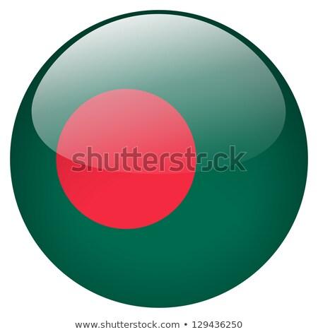 Adesivo bandeira Bangladesh isolado branco viajar Foto stock © MikhailMishchenko