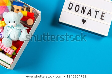 Schenken bericht speelgoed witte achtergrond leuk Stockfoto © fuzzbones0