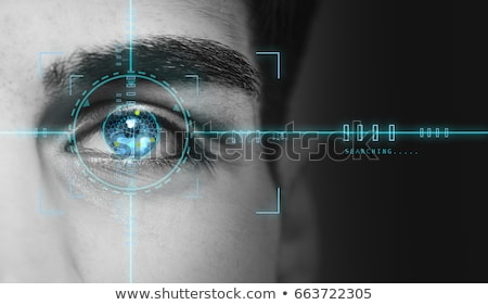безопасности · Iris · сетчатка · идентификация · блокировка · цифровой - Сток-фото © kentoh