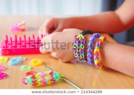 Elastic rainbow loom bands Stock photo © mahout