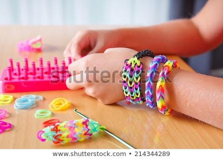 Elastic rainbow loom bands stock photo © mahout