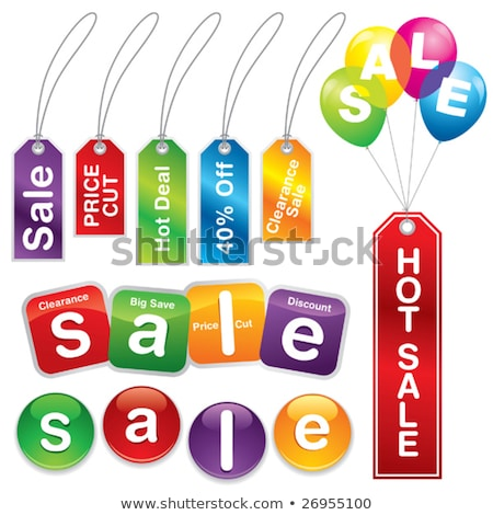 hot deals purple vector icon button stock photo © rizwanali3d