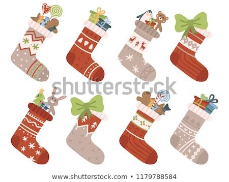 Bear in christmas sock  Stock photo © Twinkieartcat