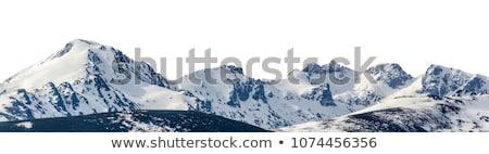 hegyek · sí · üdülőhely · természet · hó · jég - stock fotó © andreypopov