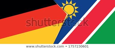 Niemcy Namibia flagi puzzle odizolowany biały Zdjęcia stock © Istanbul2009