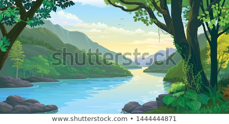 morning on the river stock photo © kotenko