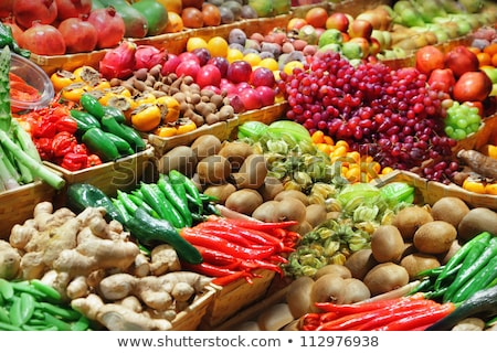 Markt frische Lebensmittel Brot Gemüse Tomaten Karotte Stock foto © Galyna