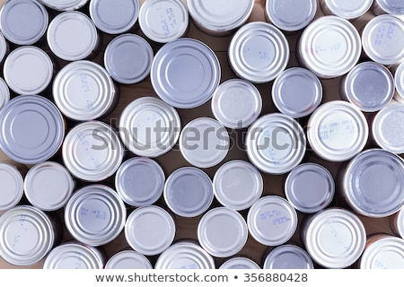 Background of multiple sealed food cans Stock photo © ozgur