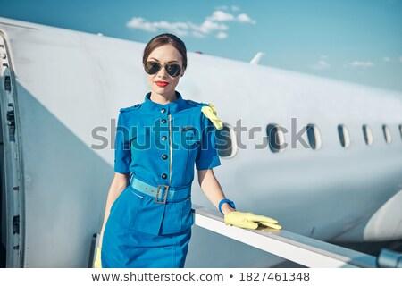 Mooie uniform meisje schoonheid reizen Stockfoto © Aleksangel
